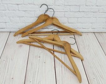 Vintage Wood Hangers Set of 4