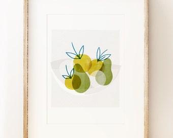 Apple Bowl - wall art print
