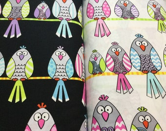 Let's Tweet ~ 2 colors - Kanvas Quilt Cotton Fabric, Out Of Print and Hard to Find