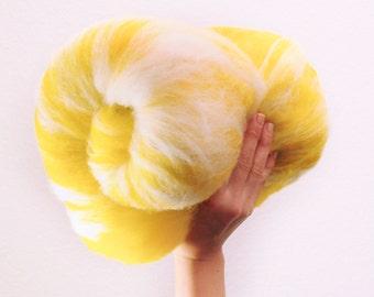 Lemon Milk - Merino Wool Art Batt 3.2oz