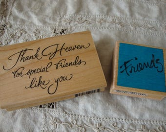friendship stamps rubber wood mounted sentimental stamps friend paper crafting supplies scrapbooking tools