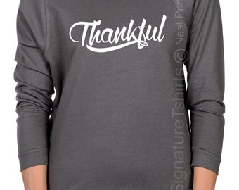 Thankful Thanksgiving Day Slouchy Off The Shoulder Sweater Thanksgiving Day Shirt Thanksgiving Outfit