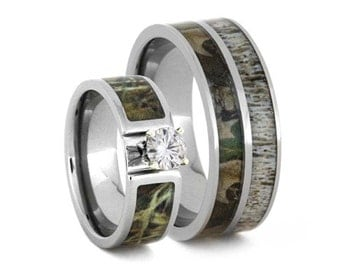 camo wedding rings etsy - Realtree Camo Wedding Rings