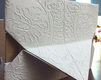 embossed  4x6 origami photo frame