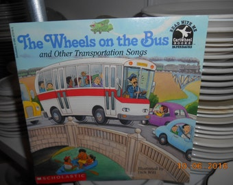 1994 The Wheels on the Bus and Other Transportation Songs Scholastic SC Book