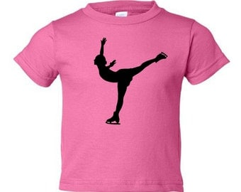 Toddler ice skater t-shirt - MORE COLORS AVAILABLE