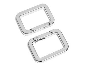 "10pcs - 1-1/8"" x 3/4"" Square Gate-Ring - Nickel - Free Shipping (GATE RING GRG-208)"