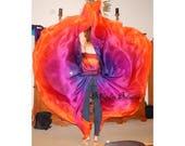 Sahariah's Silk Belly Dance Veils Original Killer Moths 2 8MM Half Circle Veils Silks by Sahariah