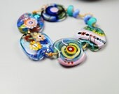 Lampwork Bead Set // Blue // Lampwork Beads // Murano Glass Beads