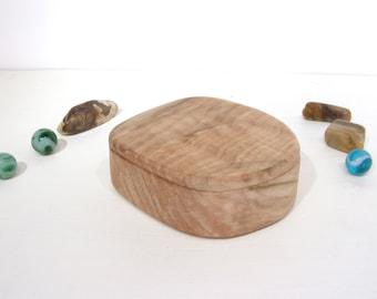 Oregon Coast Maple Wood Box, heartwood, engagement ring box, ring bearer box, proposal box, earring box, guitar pick box, bracelet box