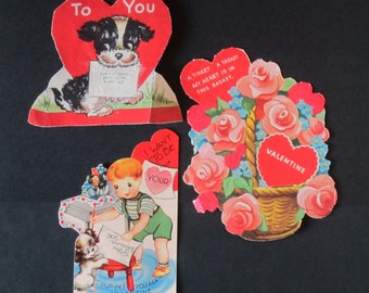 Vintage Valentines - Set of 3
