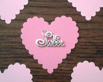 "Sterling Silver ""Sweet 16"" Charm"