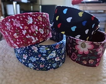 Corduroy  House/Martingale Collar - 4 Designs - Whippet/Lurcher/Greyhound/Most Breeds