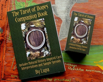 The Tarot of Bones Companion Book PAPERBACK ONLY - pagan taxidermy divination Wicca skulls magick tarot cards