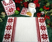 PATTERN: Nordic Redwork Trio in Plastic Canvas