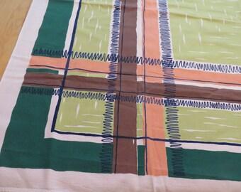 Vintage Atomic Modern Simtex Tablecloth