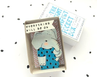 Elephant - The Instant Comfort Pocket Box - everything will be ok - consolation or cheer up box - sympathy gift