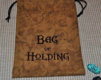 Dungeons and Dragons game dice BAG of HOLDING