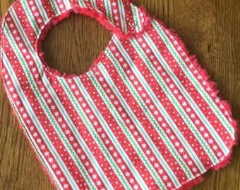 Christmas Design Minky Baby/Toddler Bib
