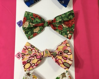 Fabric Hair Bows~ For Girls, Teens, and Women