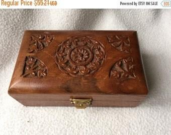 ON Sale Today Elegant Burl Wood Box Brass Mounted Lid Mid-Century Engraved Design Cigarette bix Desk Accessory