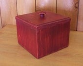 Reserved for Peggy / Shipping for Primitive Coffee Filter Box / Burgundy Aged finish
