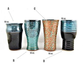 Crafted Beer Mug, Handmade Pottery Beer Mug, IPA, Pilsner, Pint, 14 - 16 oz. groomsmen gifts idea - In stock