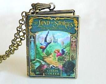 The Land of Stories, Book Cover Necklace, Book Locket Necklace, Chris Colfer, Modern Day Fairy Tales, Children's Novels, Fantasy Genre