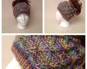 Multi Color Ponytail Hat