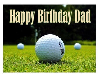 """Golf Golfing Sports Personalized Party Edible Image Cake Topper 7.5""""x 10"""" Baking Supplies"""