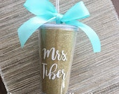 MRS Personalized Glitter Tumbler Cup // 16oz