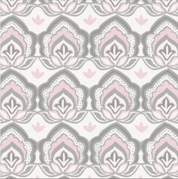 Pink and Gray Custom Crib Baby Bedding -Reserved for PaigeErin