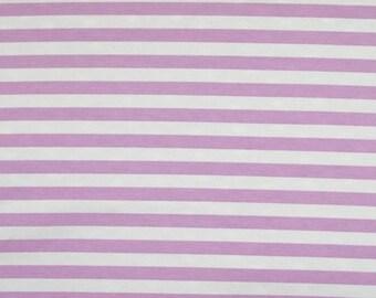 "Eggplant 1/2"" stripes knit cotton lycra spandex 1 yard"