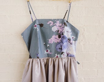 Lilac silver dress - size 6-8