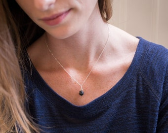 LAVA Rock diffuser jewelry for essential oils - simple / lava drop simple necklace