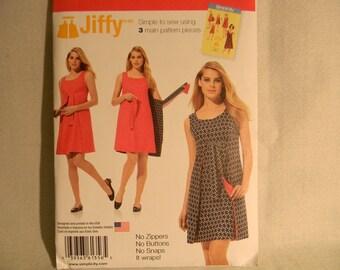 Uncut Simplicity Pattern 1356 Size 14-22 Misses Wrap Around, Reversible Dress