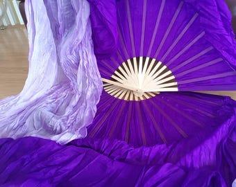Purple Dreams Dance Flow Fans Pair of Silk fan veils