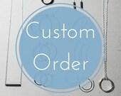 CUSTOM order for Rachel. 'I' initial pendant.