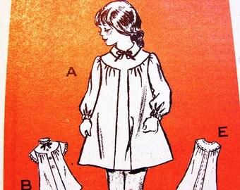 Toddler Dress Pattern size 4 Girls Dress Pattern Vintage Mail Order Pattern Short Sleeve Dress or Long Sleeve Dress Sewing Pattern