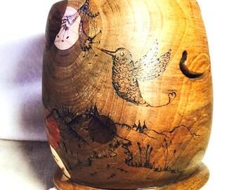 STARY FIBERS, avocado wood yarn bowl