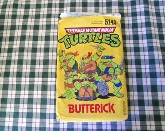 Vintage Butterick Teenage Mutant Ninja Turtles Pattern 5143 Uncut