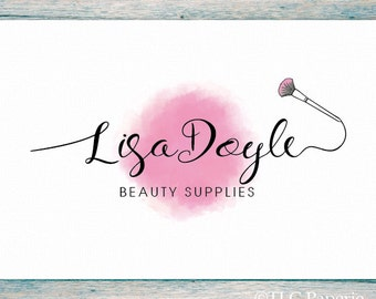 Cosmetology Logo, Makeup Artist Logo, Bath Beauty Logo,  Photography Logo, Premade Logo, Watercolor Logo, Boutique Logo, Salon Logo