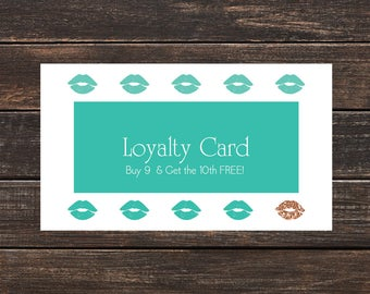 LipSense Loyalty Card- LipSense Cards, Custom LipSense