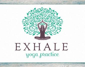 Yoga Logo Design, Custom Logo, Tree Logo Bohemian Logo, Meditation Logo, Boho Logo