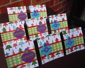 Christmas Ornaments and Trees Blank Cards 3x3 (8)
