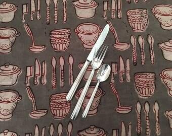 Batik Fabric - Hand Block Printed Cotton from India - Novelty Fabric