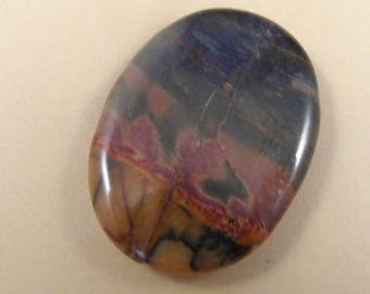 40x30MM Oval Shape,Earthy Colors, Drilled Hole , 2