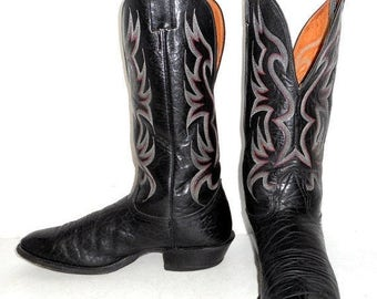 Vintage Authentic Cowboy Boots Tony Lama by honeyblossomstudio