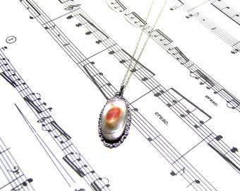 Vintage Sterling Silver Pendant  Pearl Pendant Vintage Pendant Gift Ideas