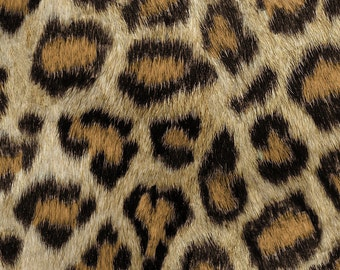 Faux Leopard Fabric - Etosha Leopard By Willowlanetextiles - Animal Print Fur Cotton Fabric By The Yard With Spoonflower